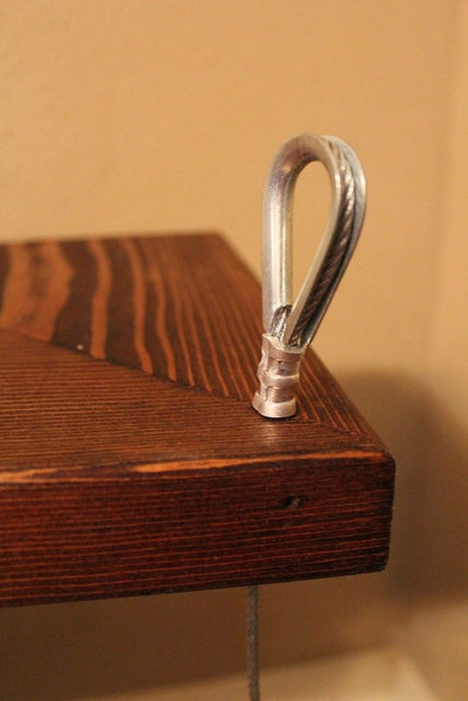 DIY Hanging Shelf - Use swag tool to create the loops
