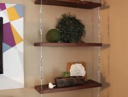 DIY Hanging Shelf - Complete Shelves
