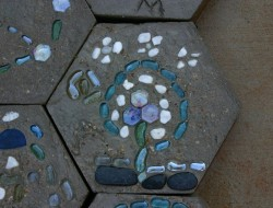 DIY Hexagon Stepping Stones - The decorative stones