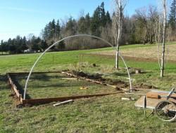 DIY Hoop Greenhouse - Insert PVC bows