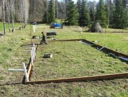 DIY Hoop Greenhouse - Build a foundation