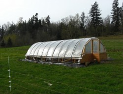 DIY Hoop Greenhouse - Roll up sides and batten strapping