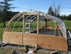 DIY Hoop Greenhouse - Build end walls