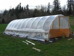 DIY Hoop Greenhouse - Add plastic