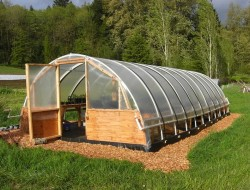 DIY Hoop Greenhouse - The greenhouse