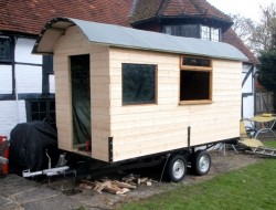 DIY House on Wheels - Groove Cladding