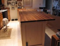 DIY Kitchen Island Cabinet - Stain
