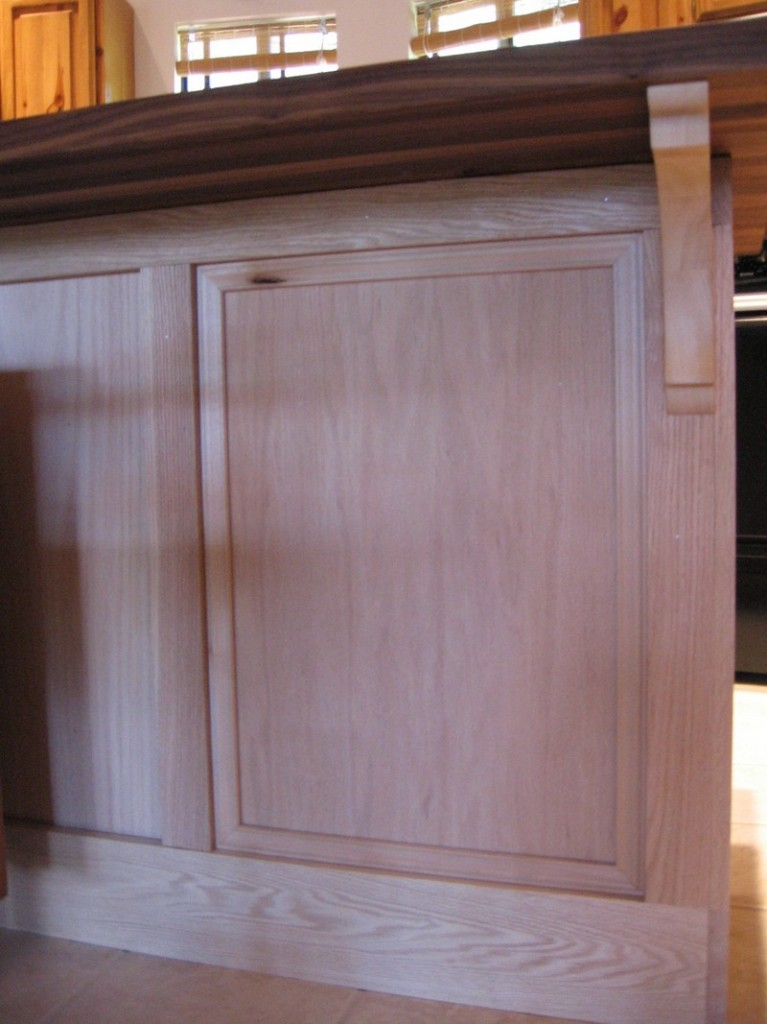 DIY Kitchen Island Cabinet - Add more trim