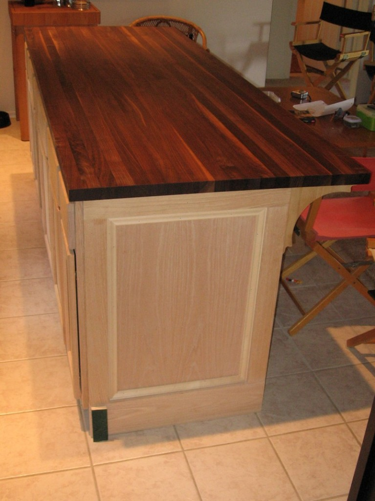 DIY Kitchen Island Cabinet - Finishing