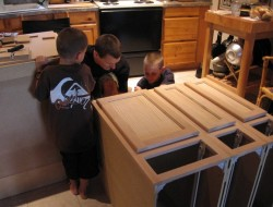 DIY Kitchen Island Cabinet - Fitting together and screwed