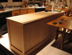 DIY Kitchen Island Cabinet - Added panels and framing