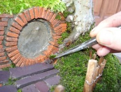 DIY Miniature Hobbit Hole- Adding Up Moss