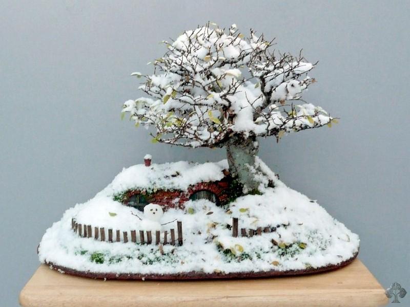 DIY Miniature Hobbit Hole-During winter