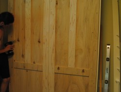 DIY Murphy Bed - Attached the bed frame
