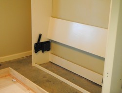 DIY Murphy Bed - Attached the frame to the wall