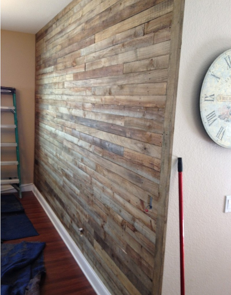 pallet wall project the owner builder network. Black Bedroom Furniture Sets. Home Design Ideas