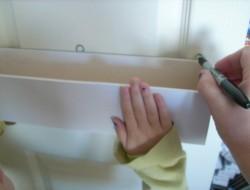 DIY Pantry Door Spice Racks - Marking