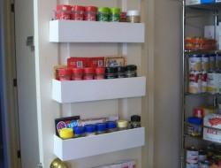 DIY Pantry Door Spice Racks - Finished Pantry Door Spice Racks
