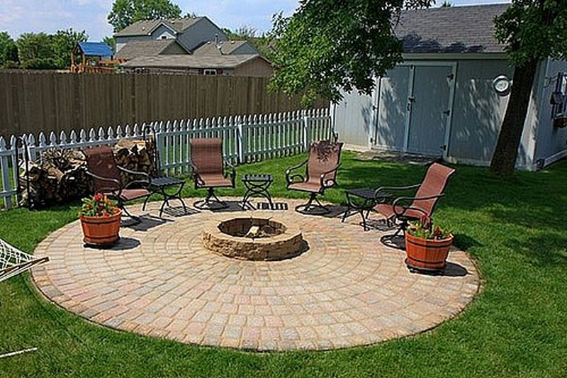 DIY Patio with Fire Pit | The Owner-Builder Network on Backyard Patio With Firepit id=25929