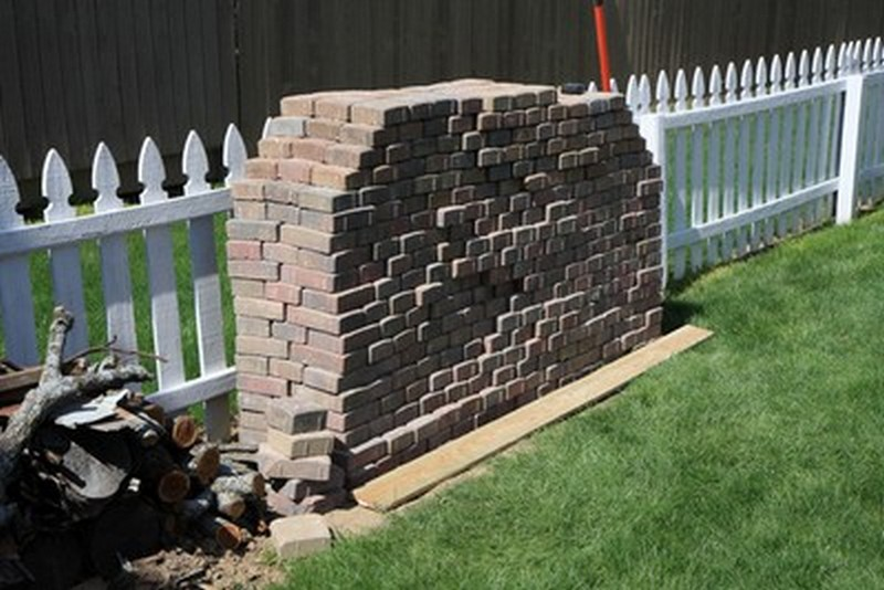 DIY Patio with Fire Pit - Brick Pavers