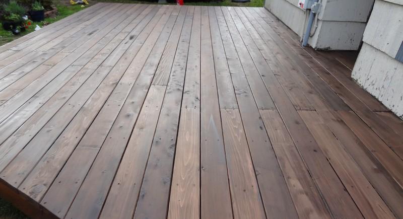 DIY Platform Deck - Staining