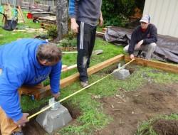 DIY Platform Deck - Deck's foundation