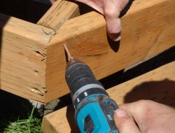 DIY Platform Deck - Angle of the deck