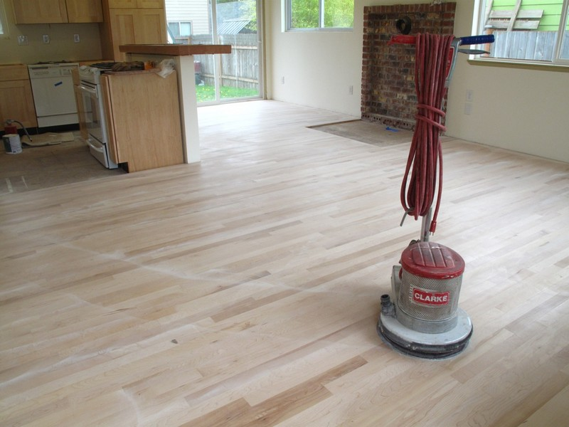 DIY Reclaimed Wood Flooring   Sanded And Sealer Coating