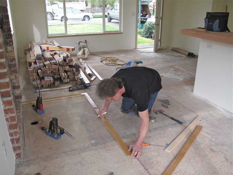 DIY Reclaimed Wood Flooring - Measurement