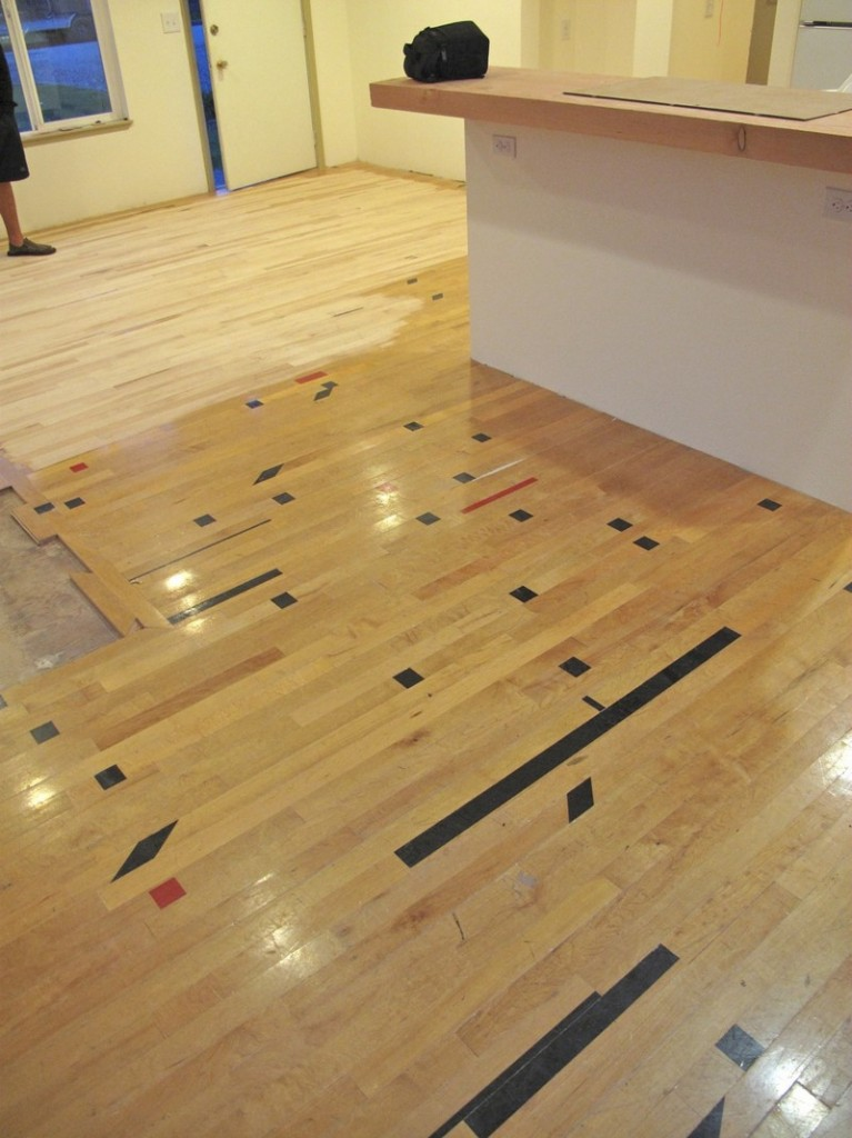 DIY Reclaimed Wood Flooring - Refinishing of the surface