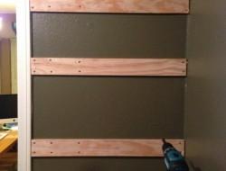 DIY Rotating Can Dispenser - Cut three horizontal boards