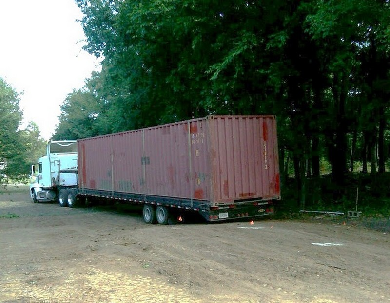 DIY Shipping Container Home - Shipping the container