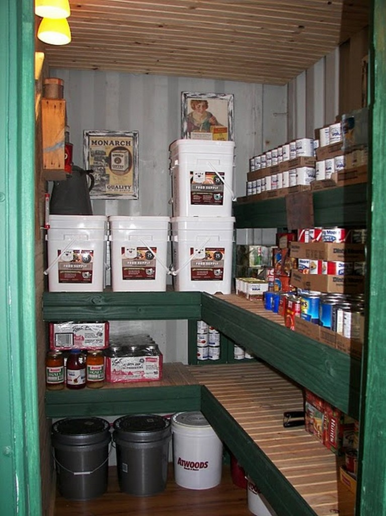 DIY Shipping Container Home - Storage area