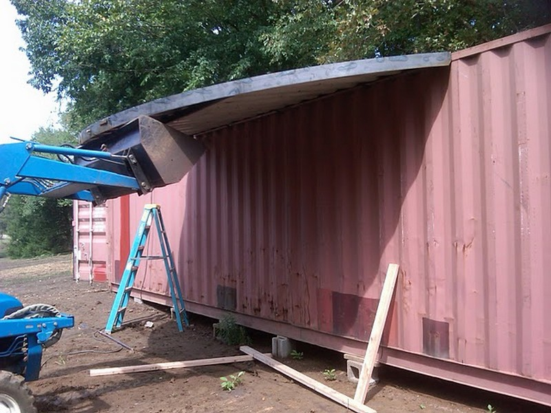 DIY Shipping Container Home - Building process