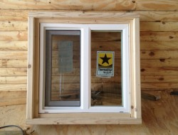 DIY Tiny Cabin - Cabin Window