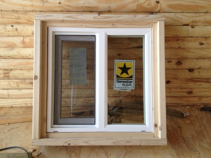 DIY Tiny Cabin - Cabin Window