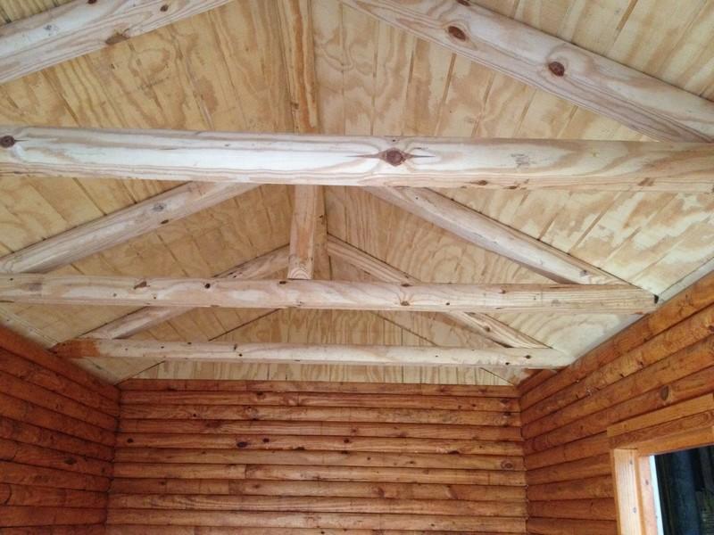 DIY Tiny Cabin - Roof Beams