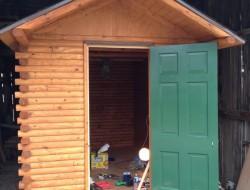 DIY Tiny Cabin - Cabin Door Hung