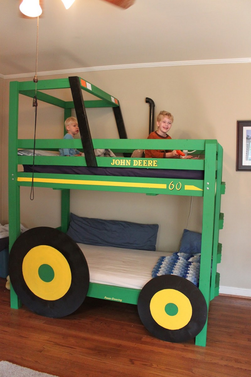 Diy bunk bed for kids - Diy Tractor Bunk Bed Finished Tractor Bunk Bed View