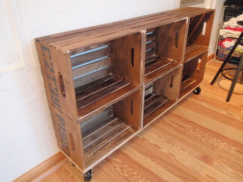 Diy Vintage Crate Shelving Unit Add Crates To The Top The Owner