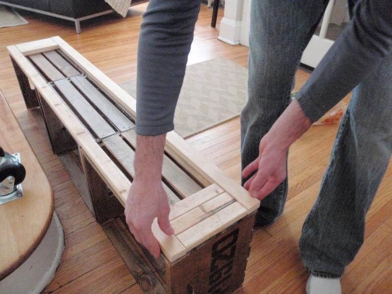 DIY Vintage Crate Shelving Unit - Base for the unit
