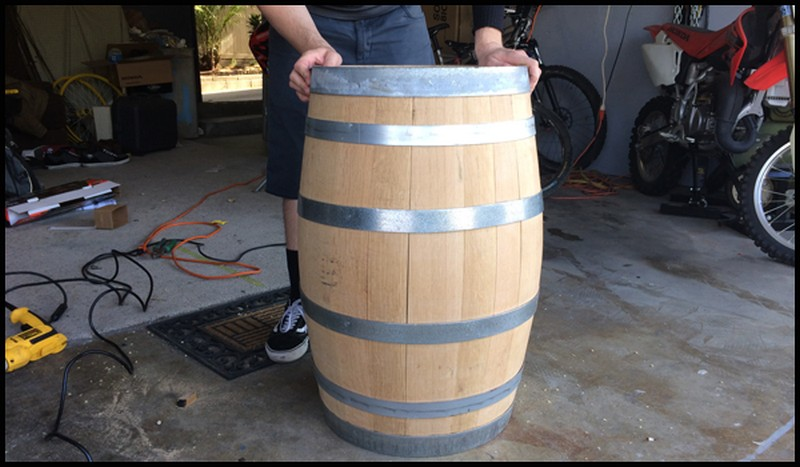 DIY Wine Barrel Dog Bed - Barrel