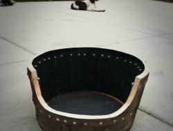 DIY Wine Barrel Dog Bed - Cutting