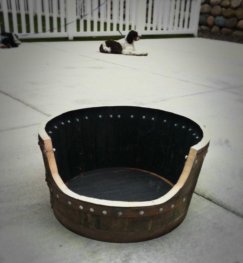 DIY Wine Barrel Dog Bed - Cutting