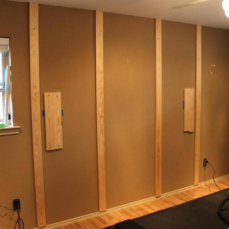 DIY Wood Wall Accent - Wall