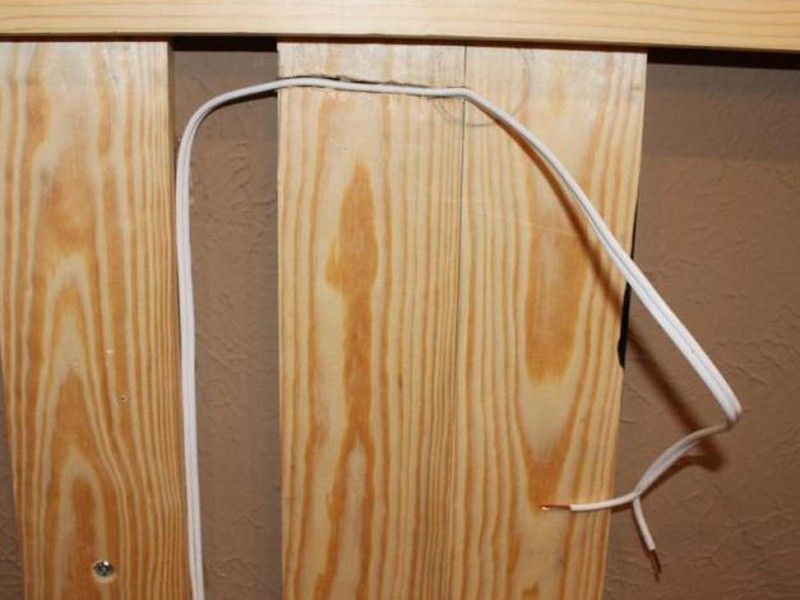 DIY Wood Wall Accent - Attach a wire to the wall