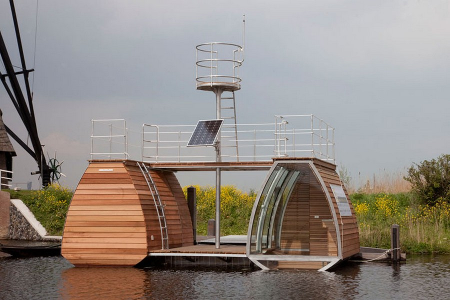 Floating Catamaran Ecolodge - Kinderdijk, Netherlands