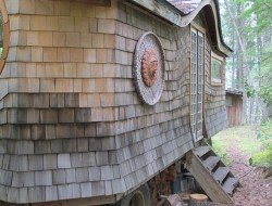 Gypsy Wagon In The Woods - Exterior
