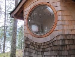 Gypsy Wagon In The Woods - Round window