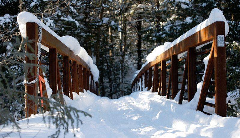 Far away, over the bridge, lies a cabin...